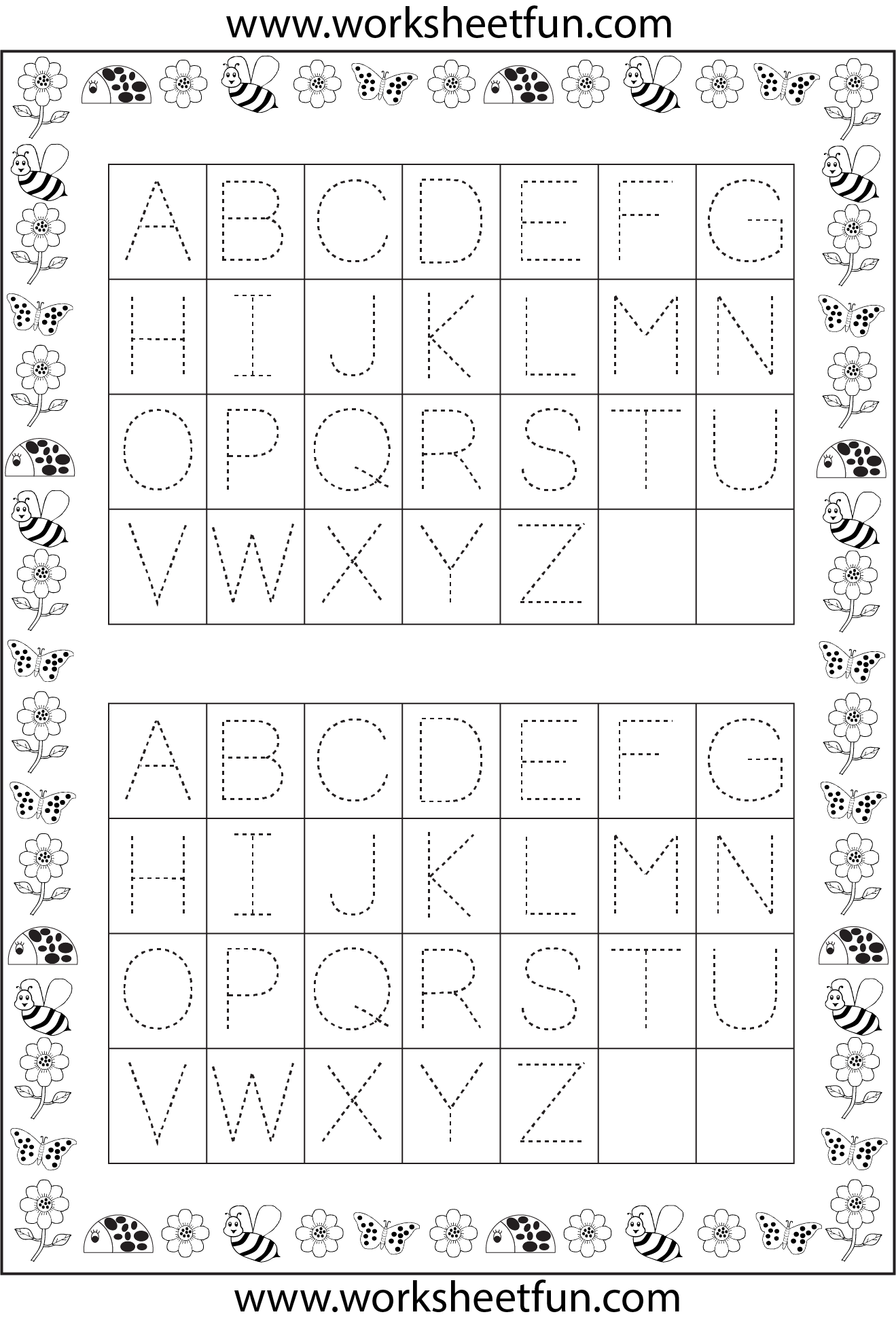 Letter Tracing 1 Worksheet Free Printable Worksheets Worksheetfun