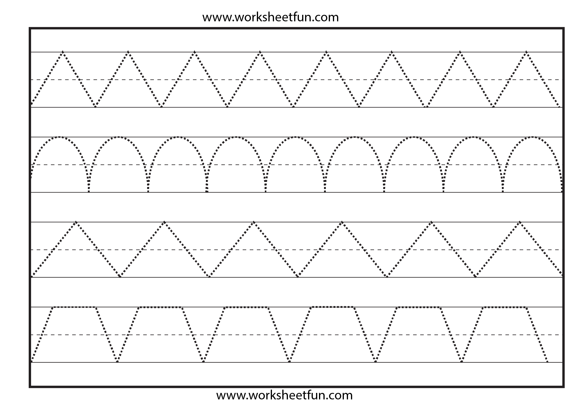 Line Tracing 1 Worksheet Free Printable Worksheets Worksheetfun