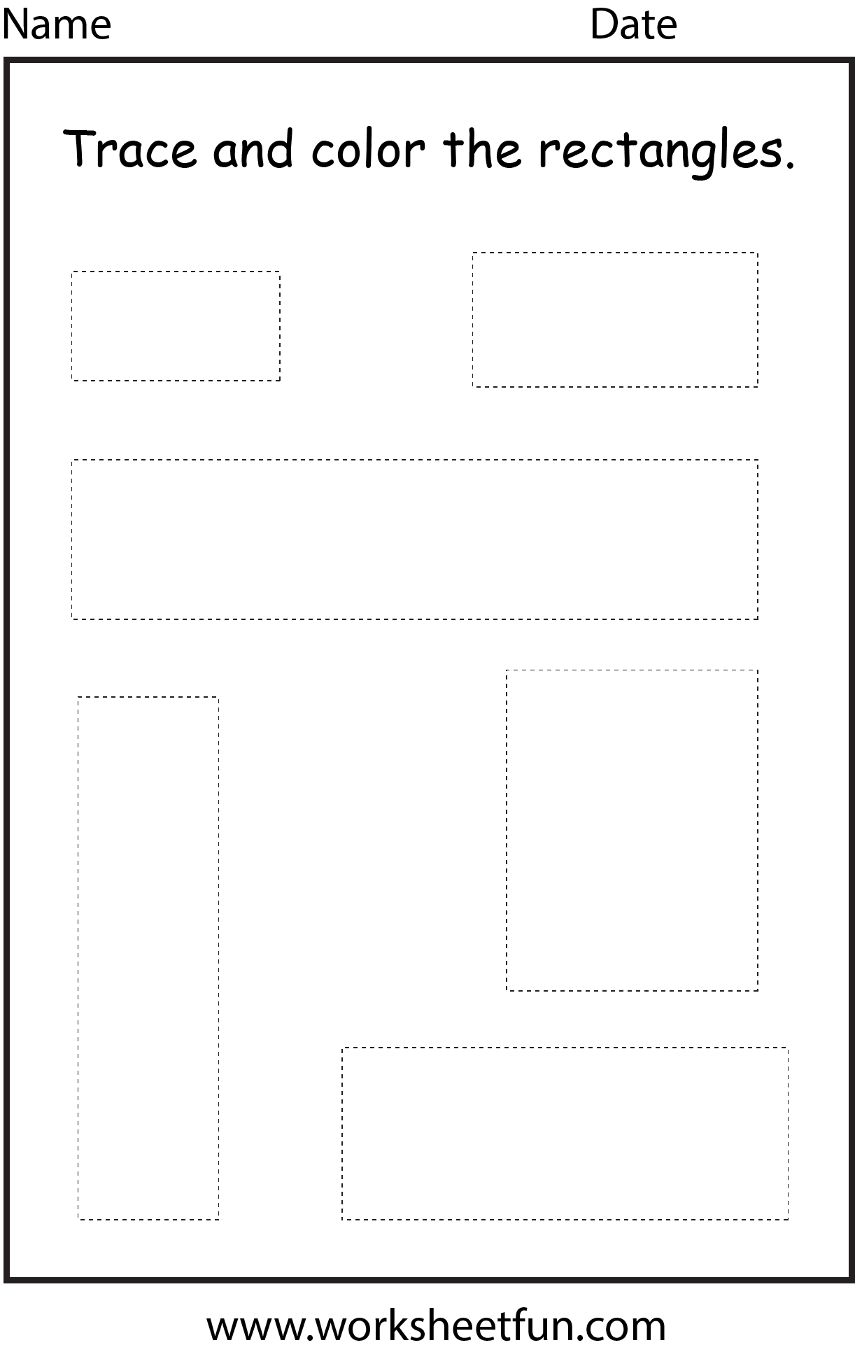 Shape Rectangle 1 Worksheet Free Printable