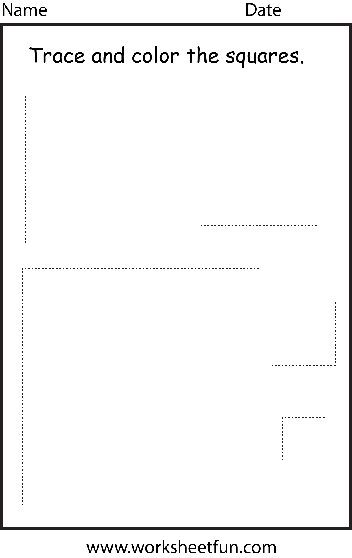 Shape Square 1 Worksheet Free Printable Worksheets