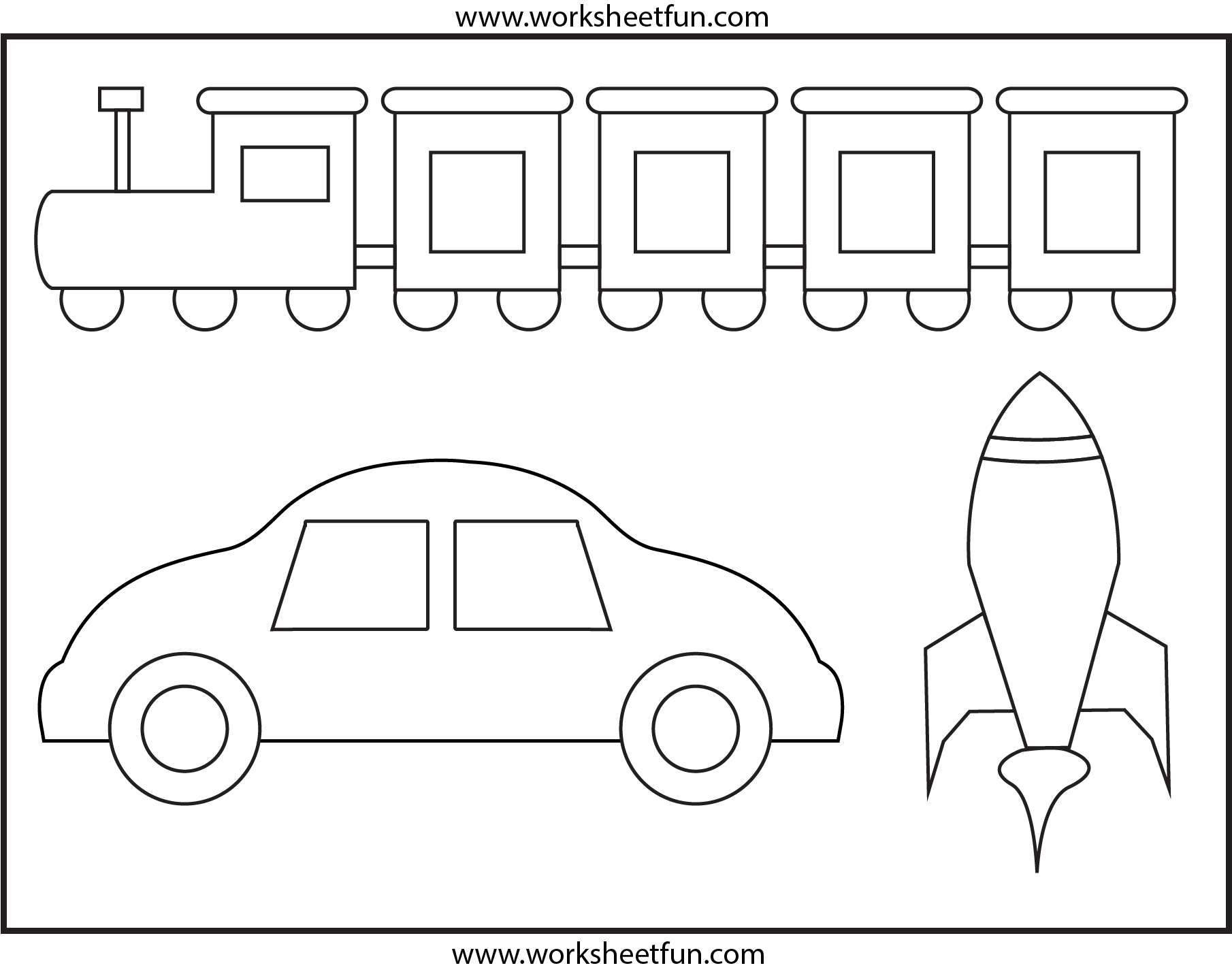 Coloring 1 Worksheet Free Printable Worksheets Worksheetfun