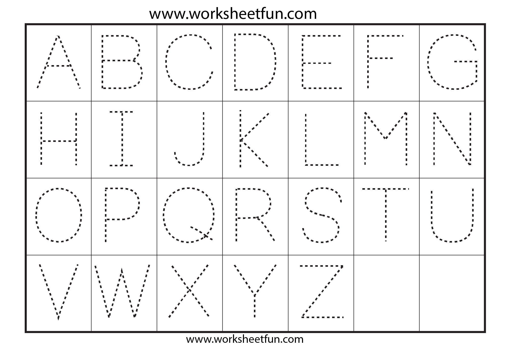 Worksheets Alphabet Recognition Alphabet Tracing