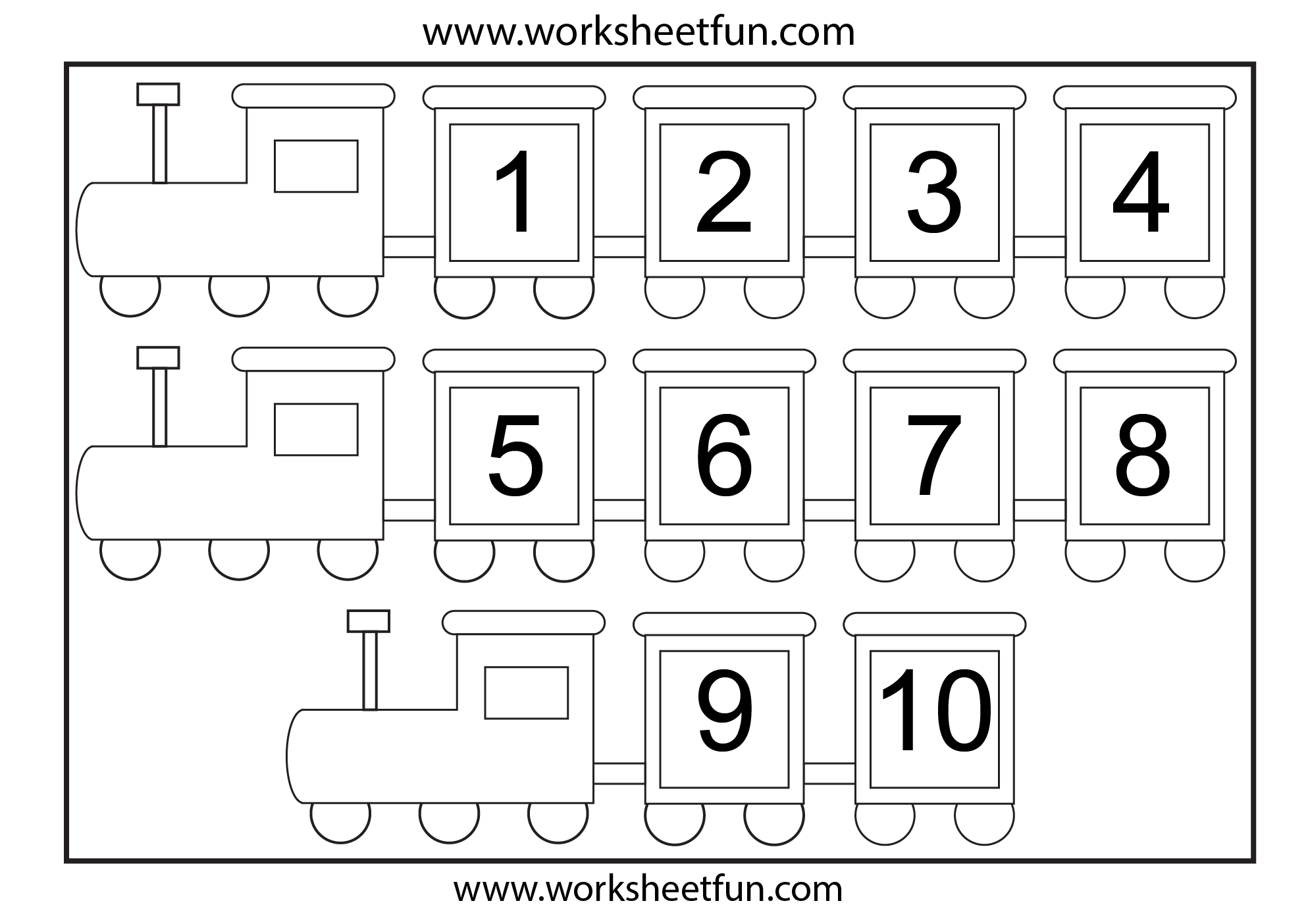 Ordering Numbers To 10 Worksheet