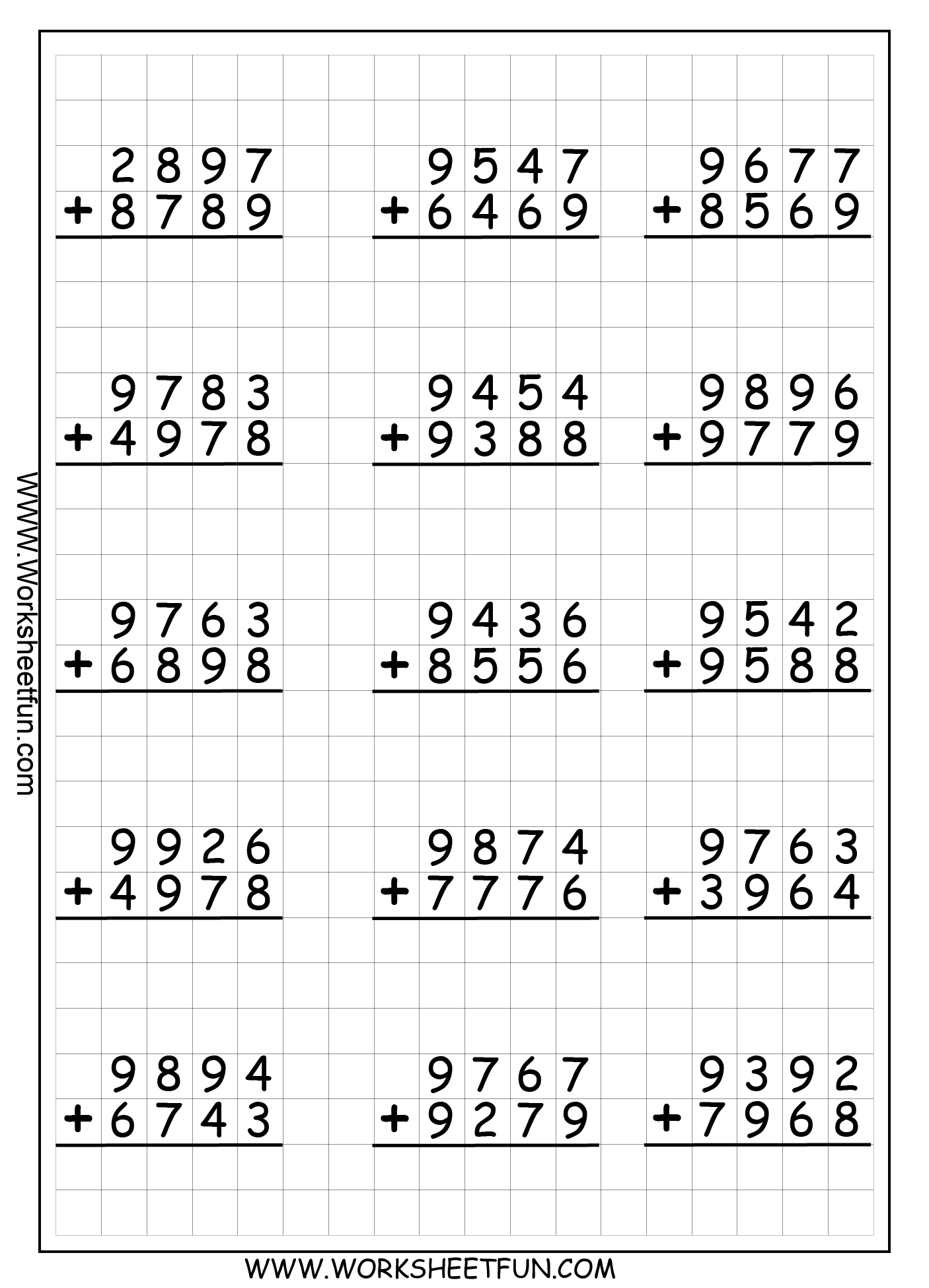 Missing Number Worksheet