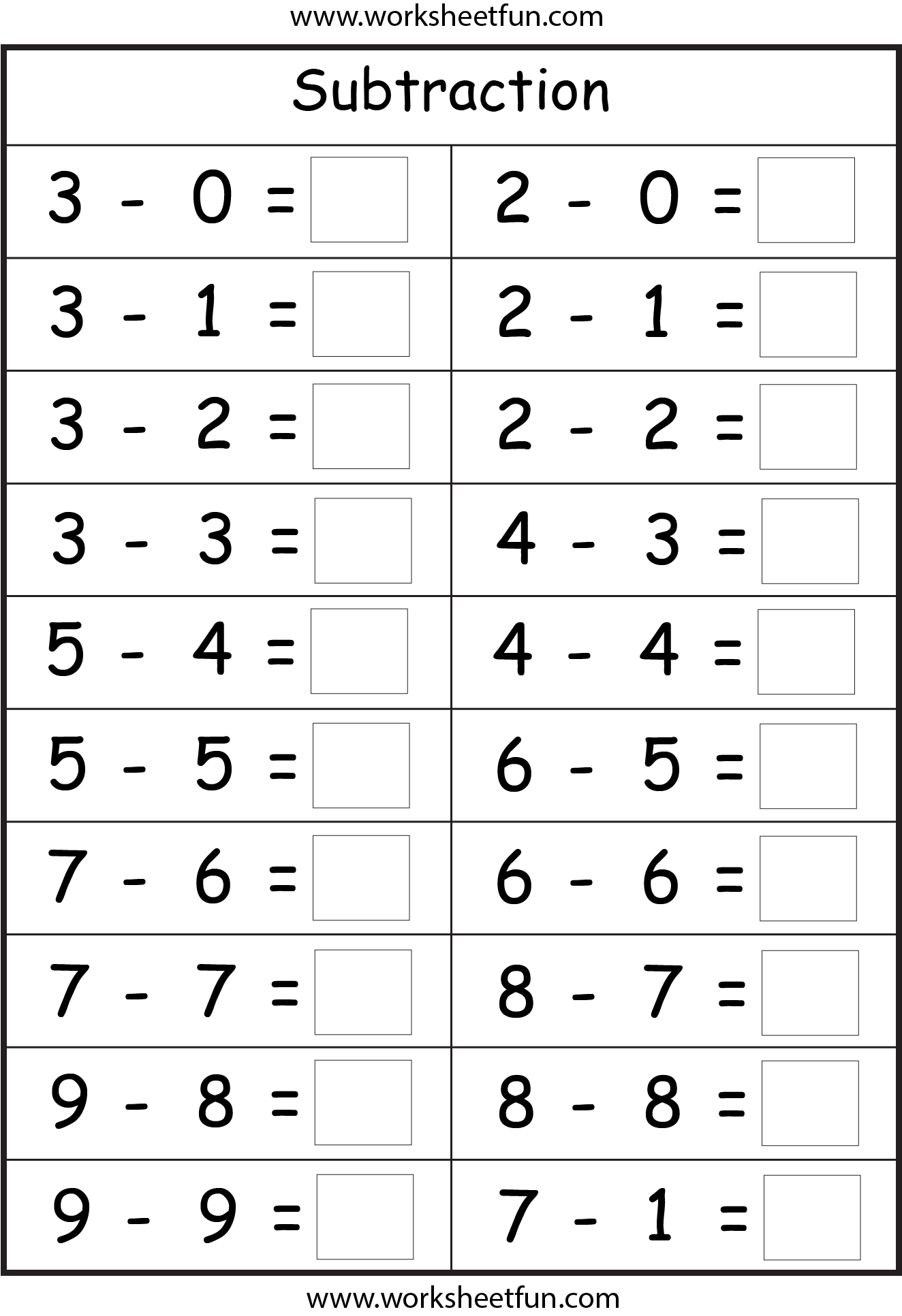 Subtraction 4 Worksheets Free Printable Worksheets Worksheetfun