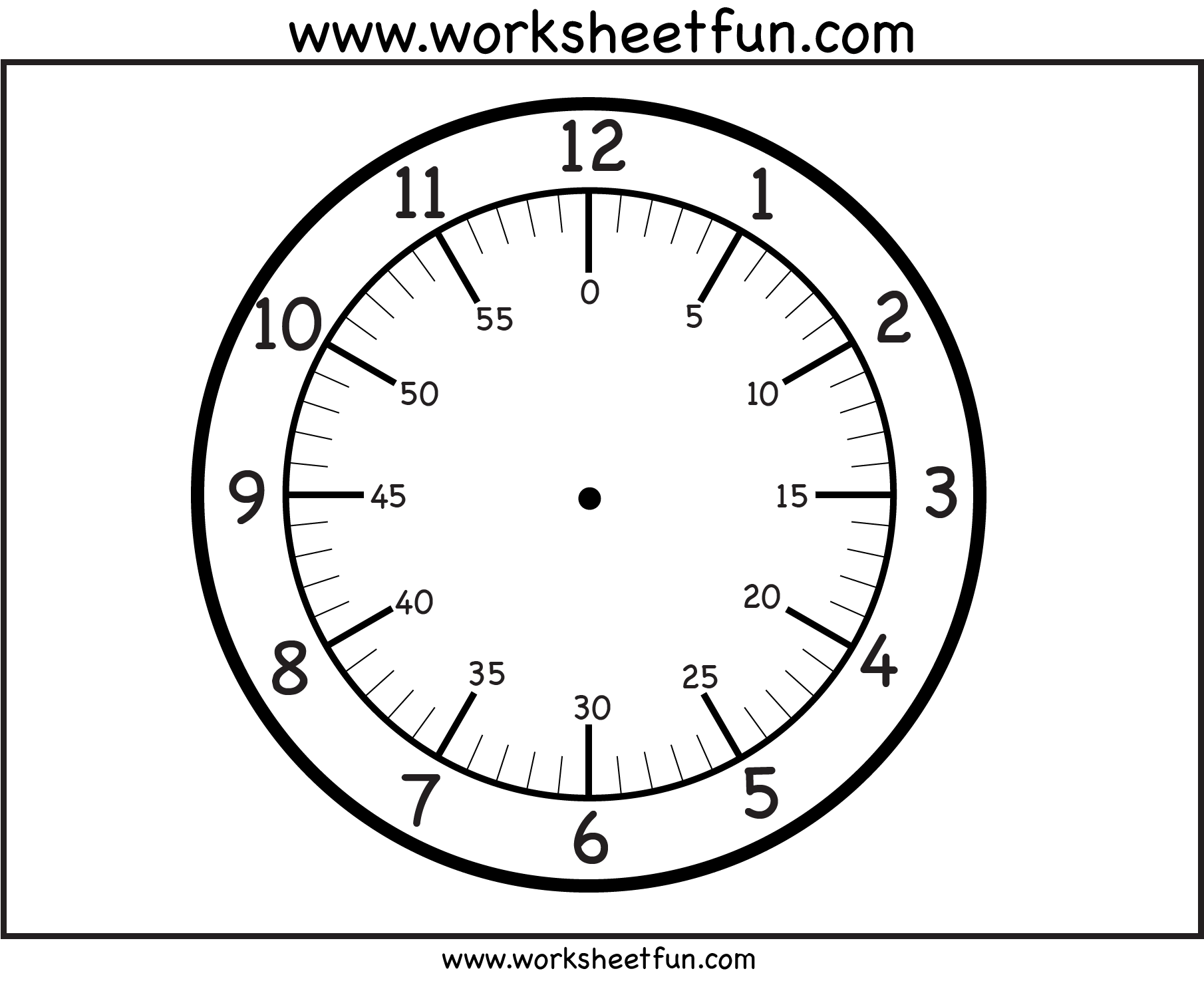 Search Results For Blank Clock Face Worksheet Template