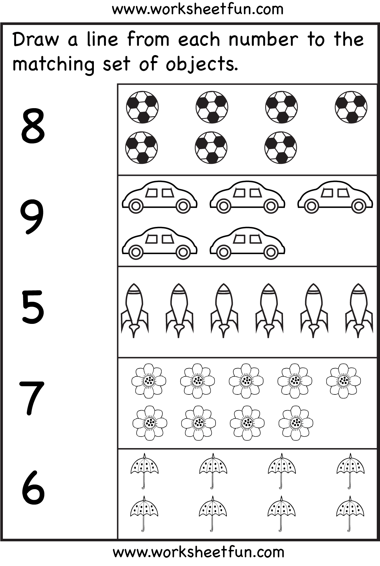 Counting 6 Worksheets Free Printable Worksheets Worksheetfun
