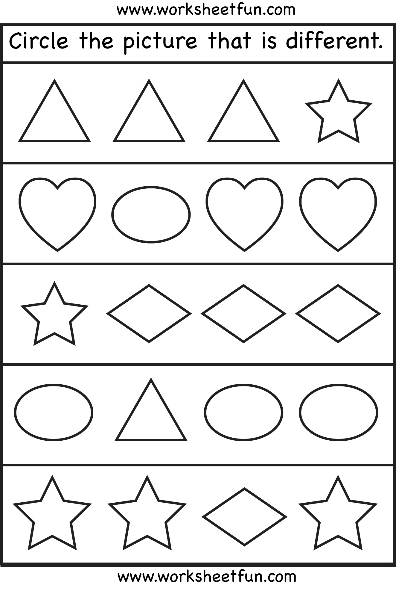 Shortest 2 Preschool Worksheets