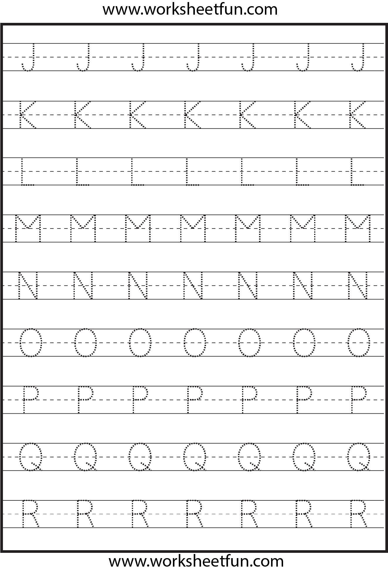 Tracing Uppercase Letters Capital Letters 3 Worksheets Free Printable Worksheets
