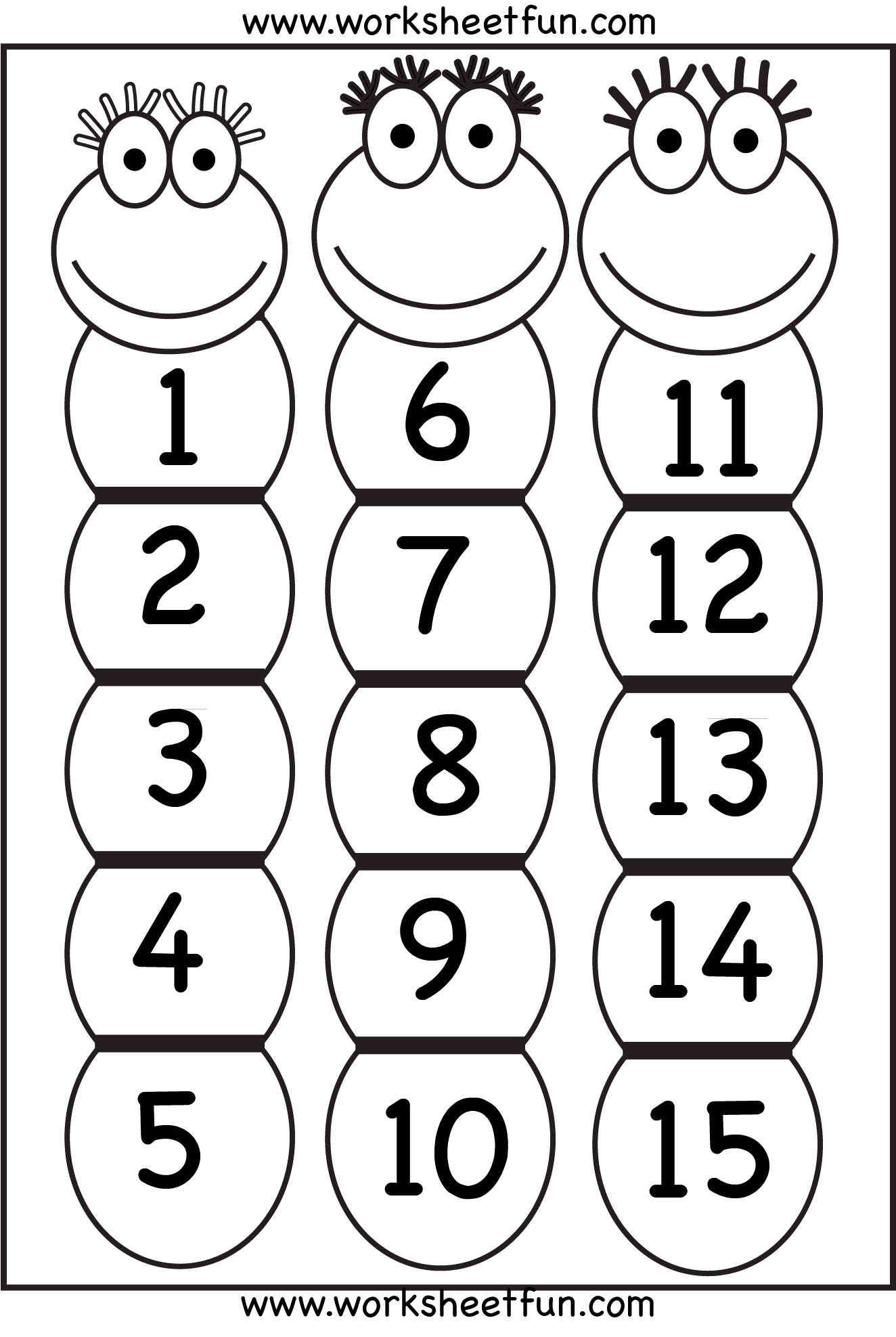 Number Chart 1 15 Free Printable Worksheets Worksheetfun