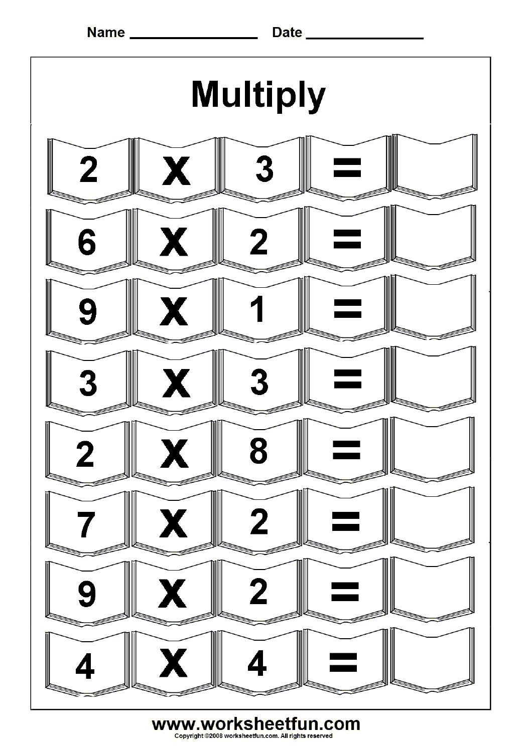 Times Tables Worksheet 5