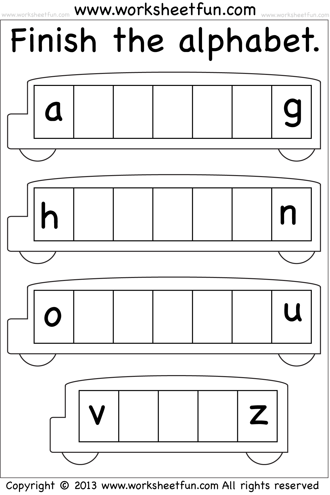 Lowercase Alphabet Letters Printable