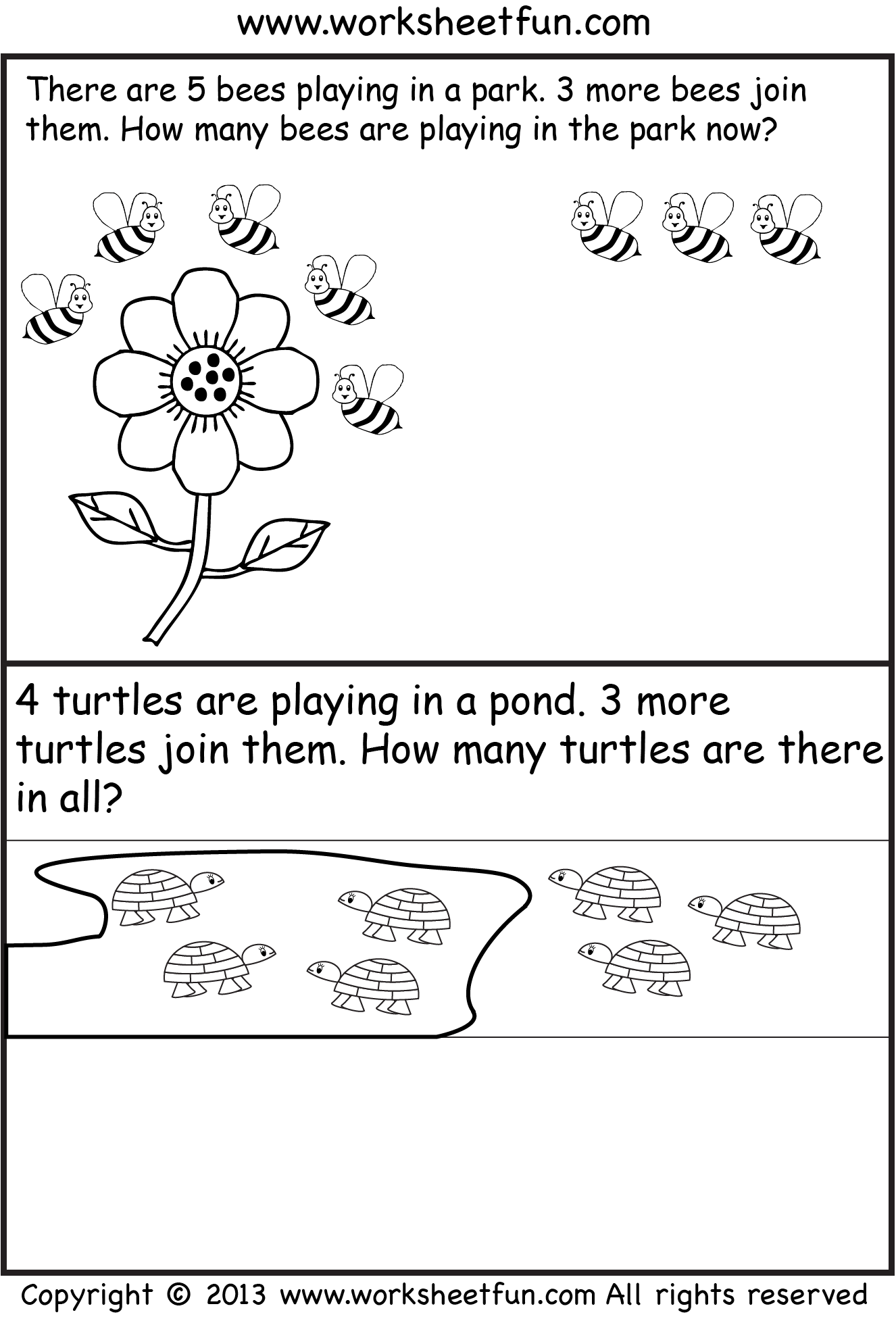 Kindergarten Math Story Problems
