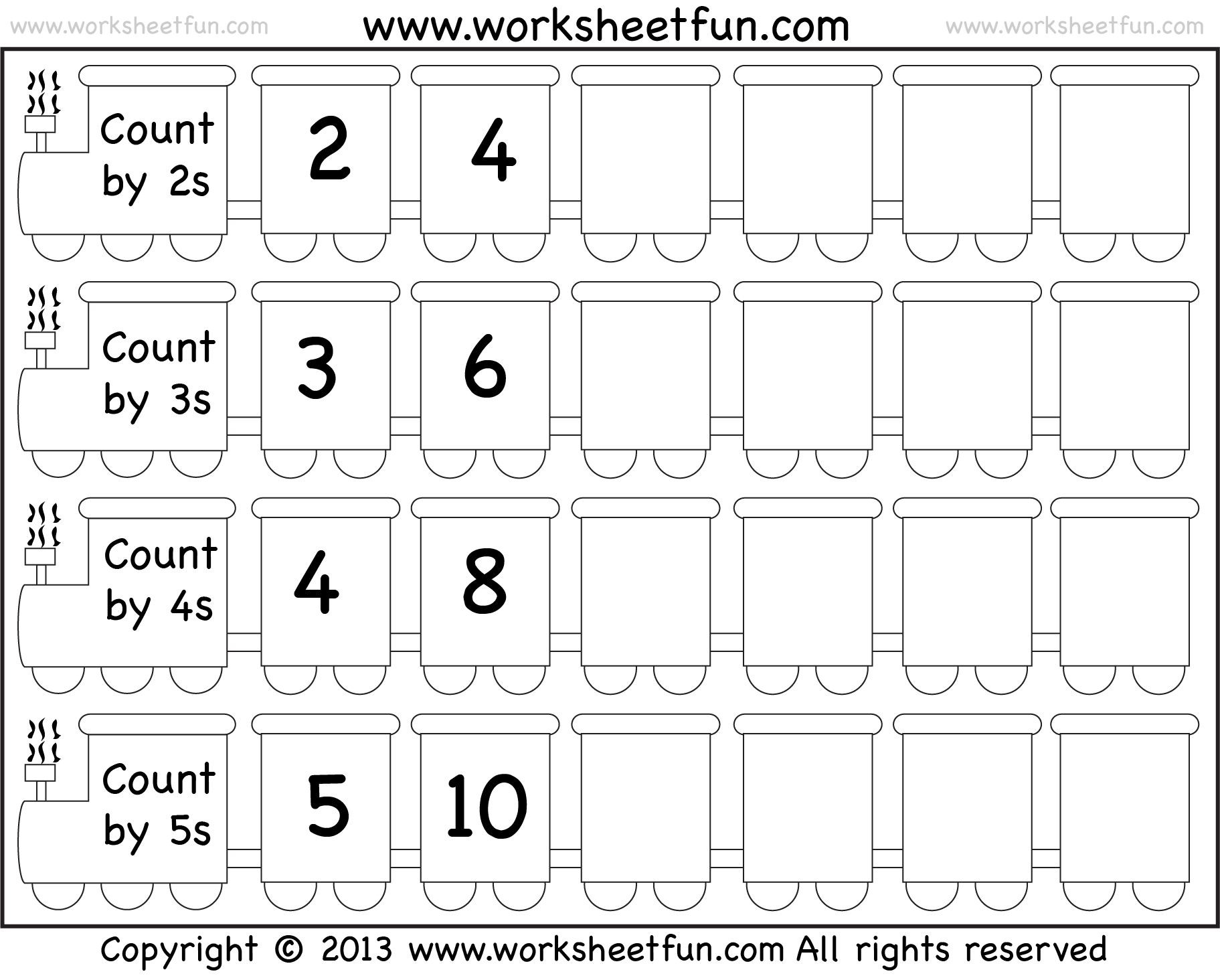 Skip Counting By 2 3 4 And 5 Worksheet Free Printable Worksheets Worksheetfun