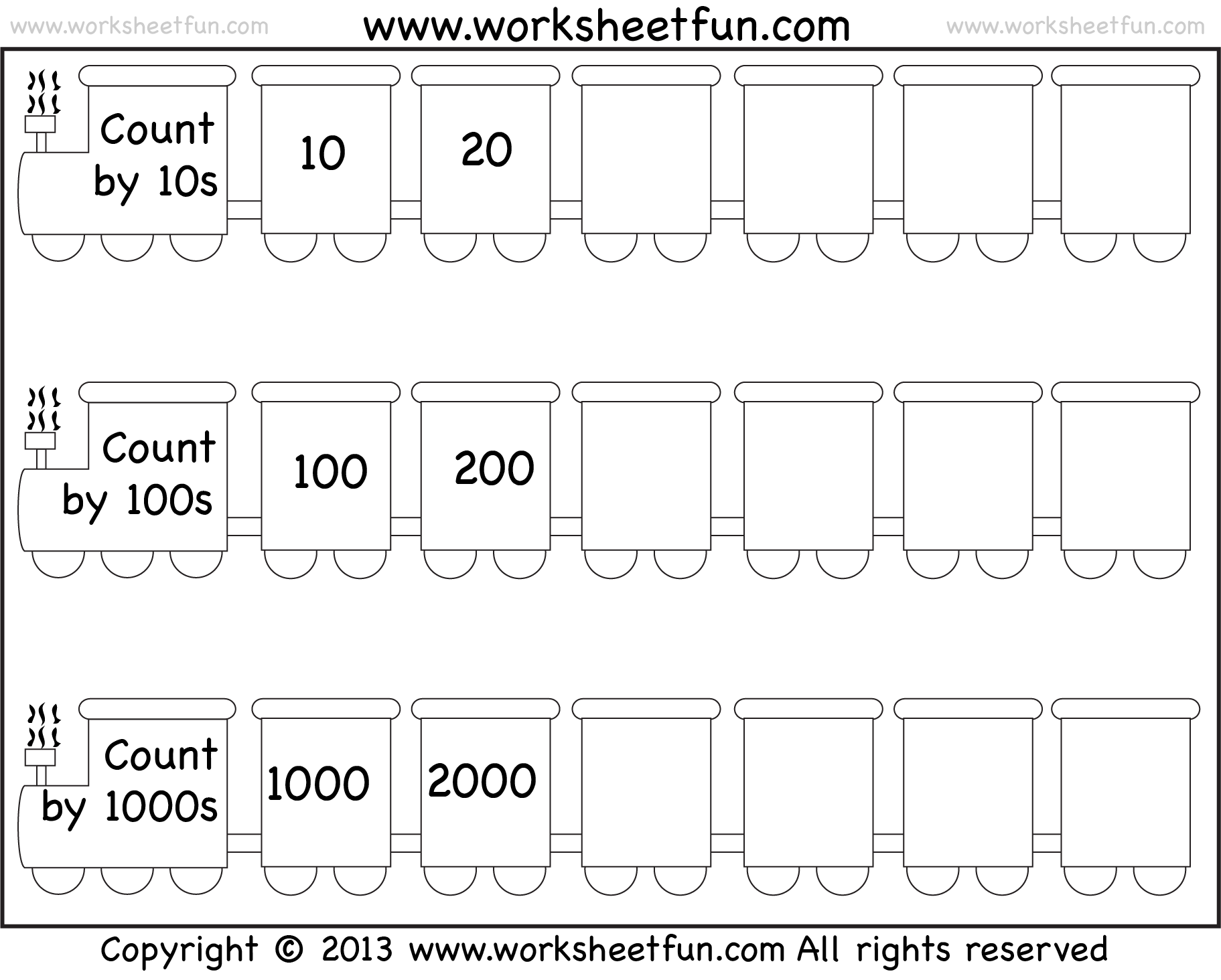 Skip Counting By 10 100 And Worksheet Free