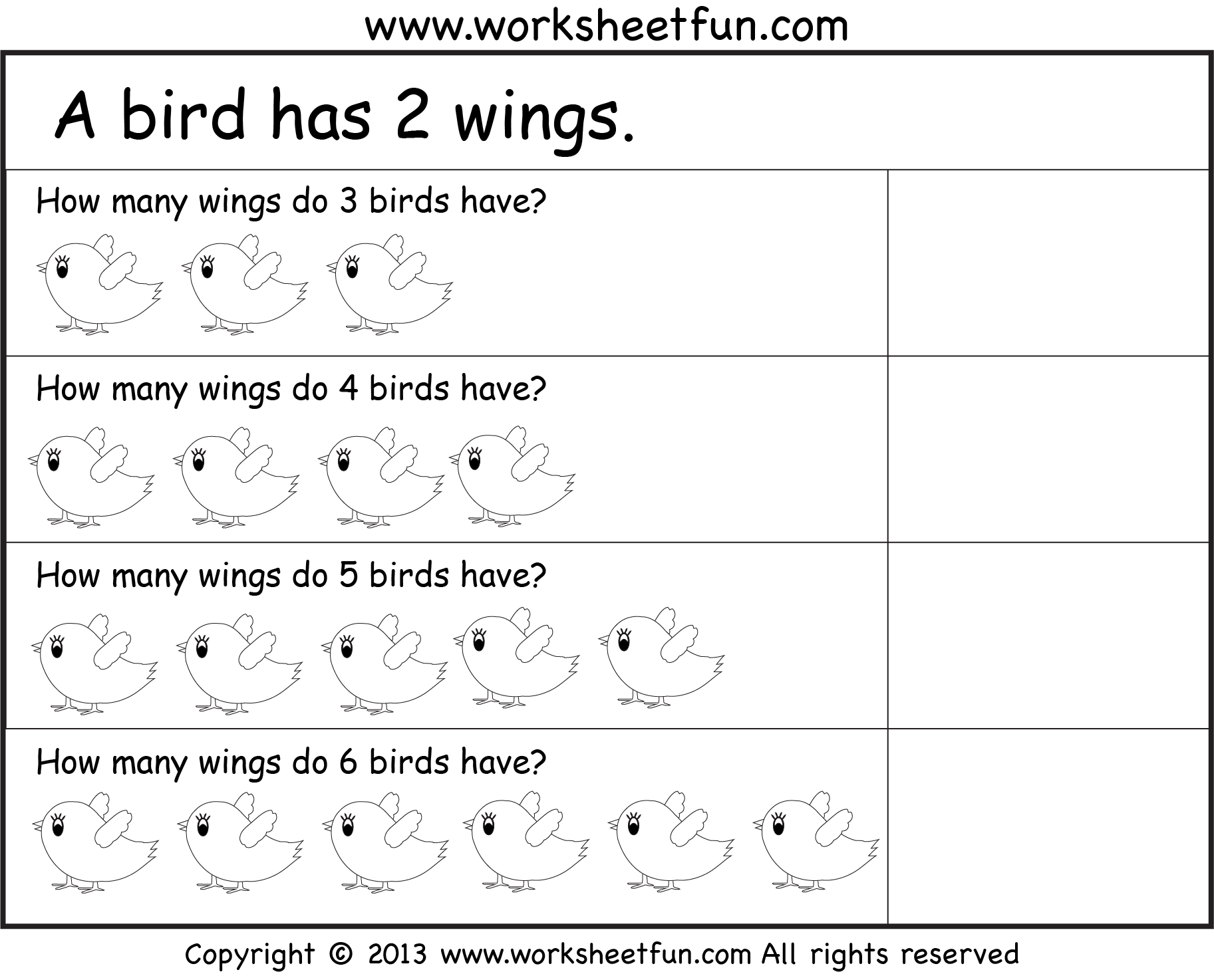 Picture Word Problems Repeated Addition Multiplication Four Worksheets Free Printable
