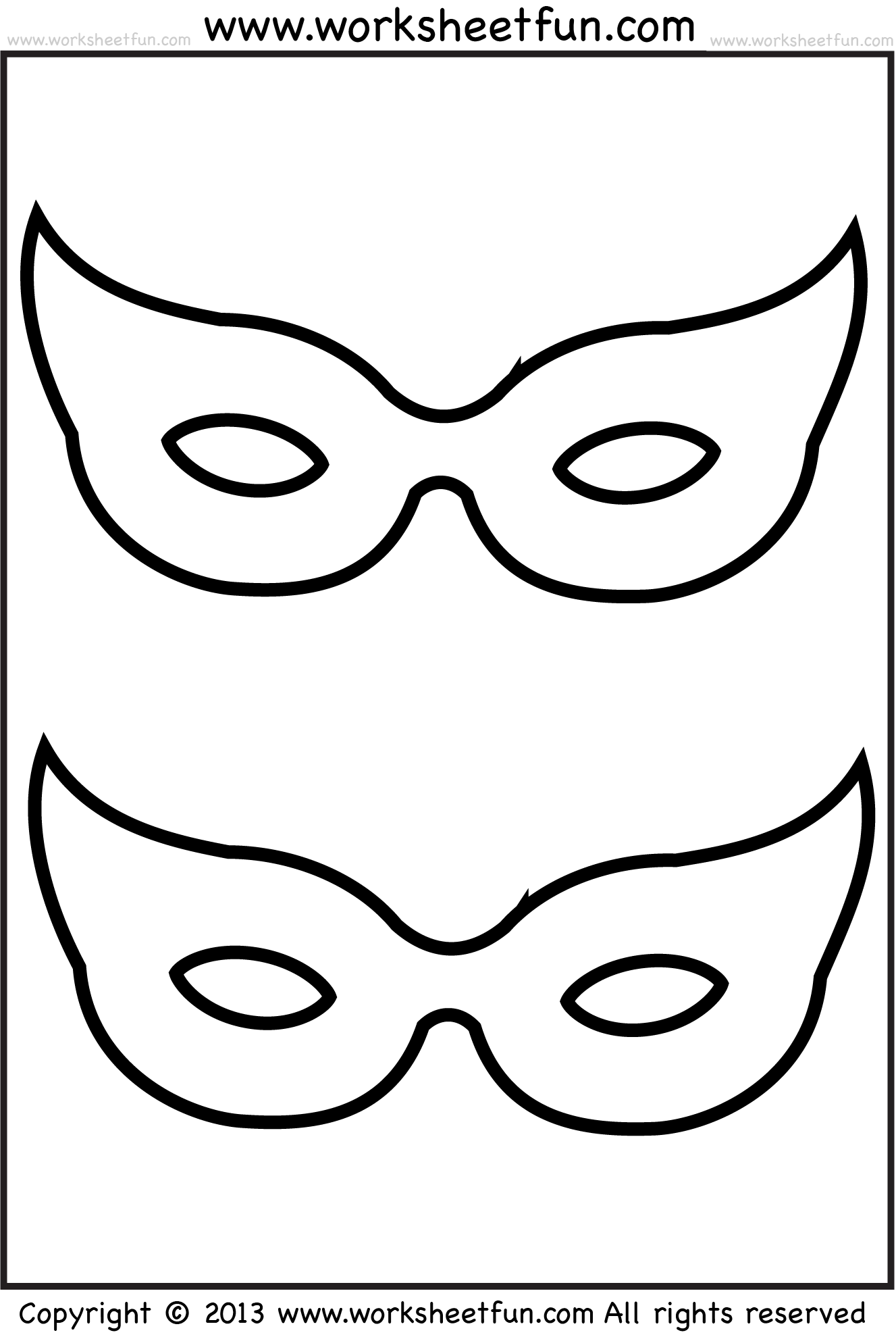 Mask 2 Worksheets Free Printable Worksheets Worksheetfun