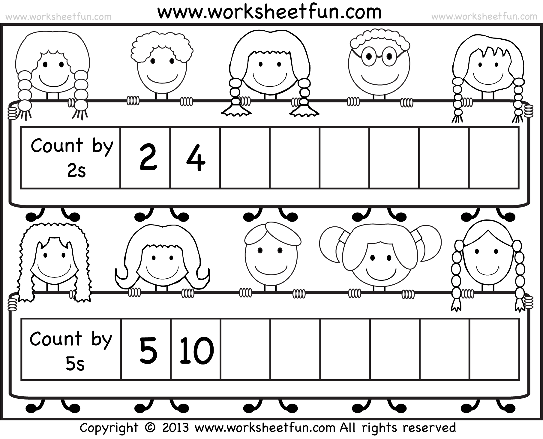 Skip Counting By 2 And 5 Worksheet Free Printable Worksheets Worksheetfun