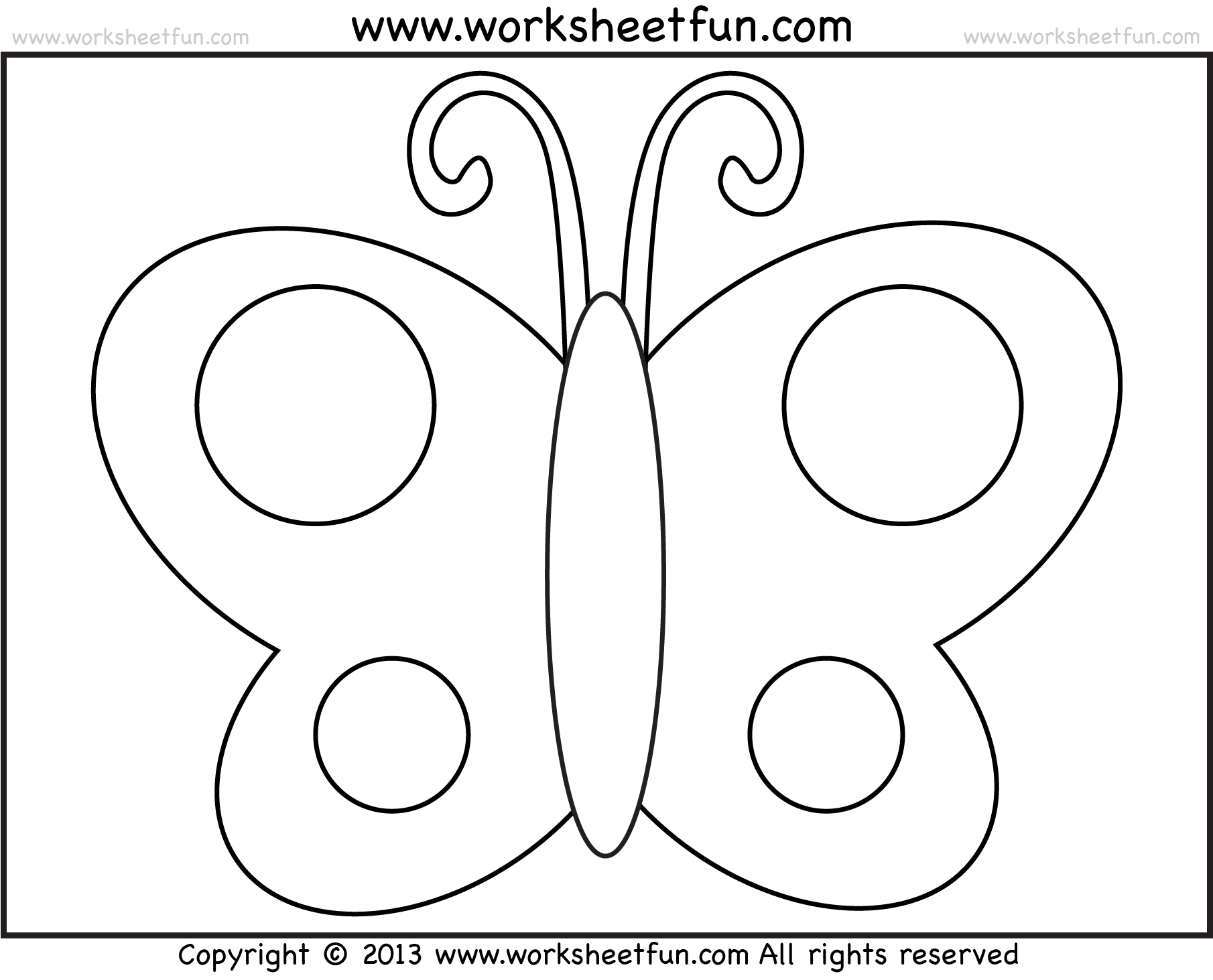 Butterfly Template For Preschool