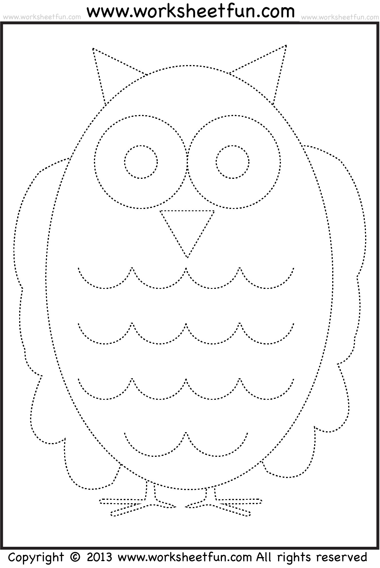 Pumpkin Tracing Worksheet