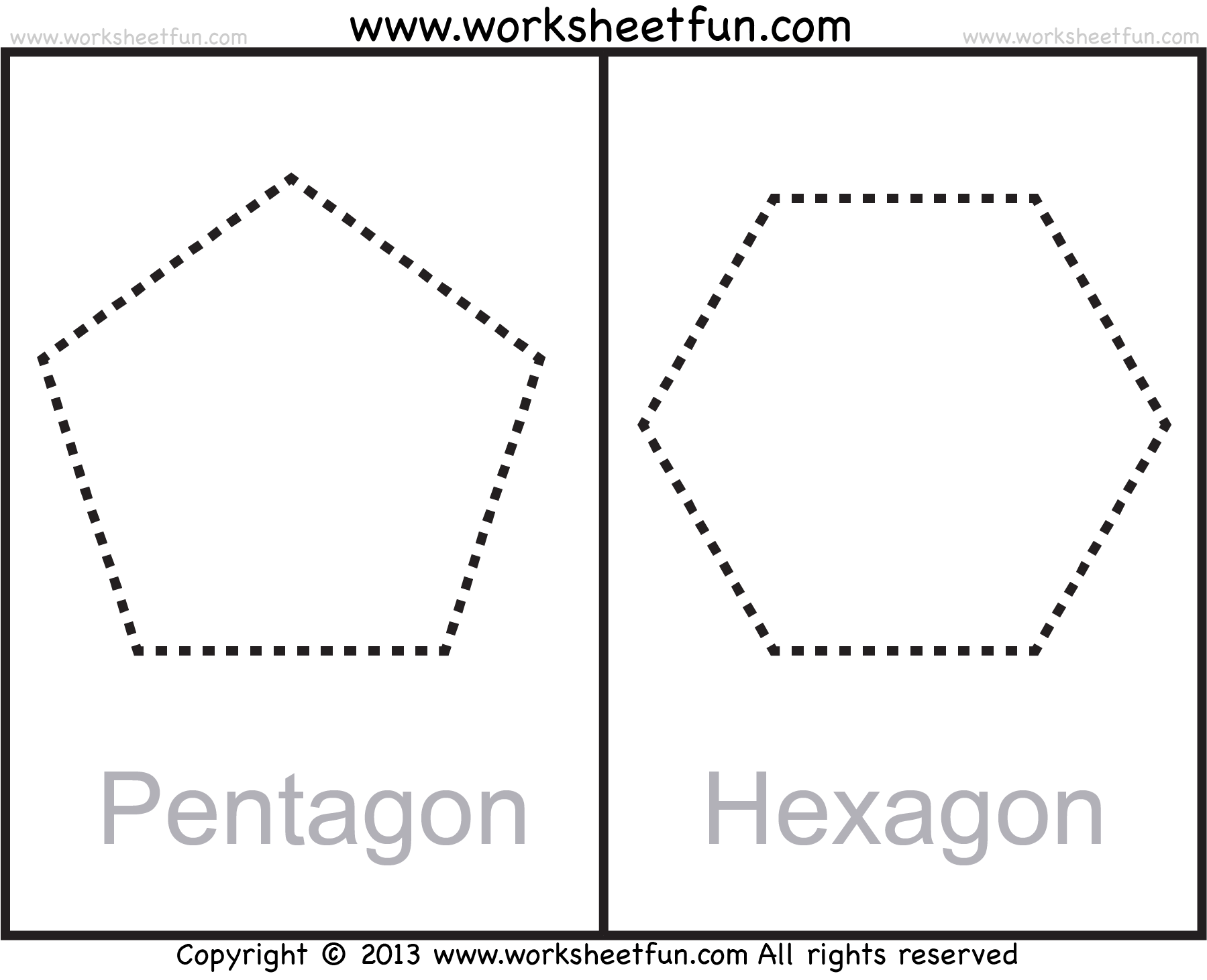 Shapes Polygons Pentagon Hexagon Heptagon Octagon