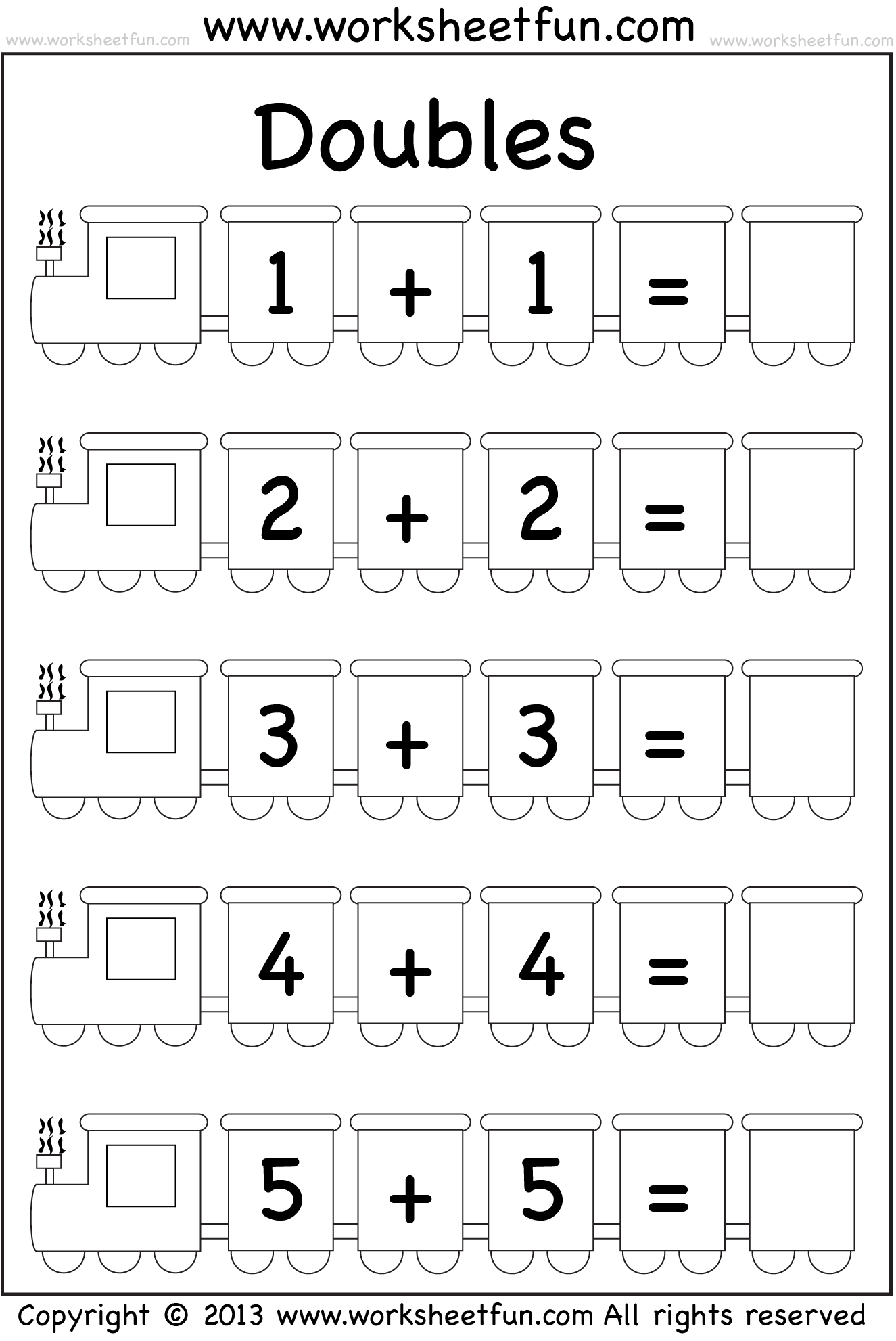 Addition Doubles 1 Worksheet Free Printable Worksheets