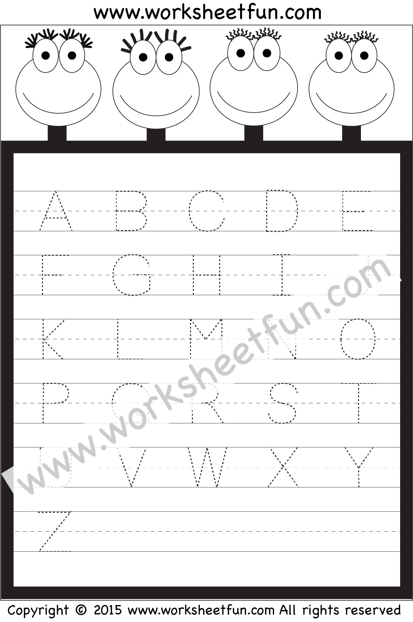Letter Tracing Worksheet Capital Letters Free Printable Worksheets Worksheetfun