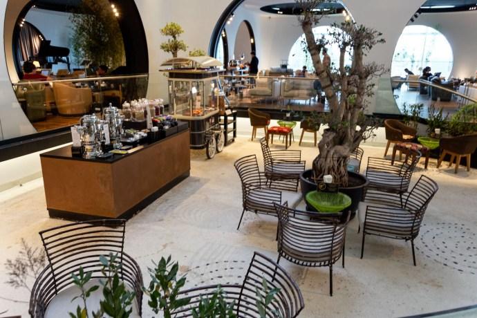 Teegarten in der Istanbul / CIP Lounge der Turkish Airlines