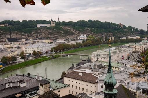 Blick auf die Salzach Salzburg