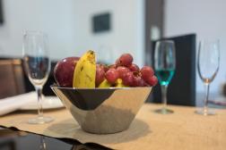 Ein frischer, gekühlter Obstteller
