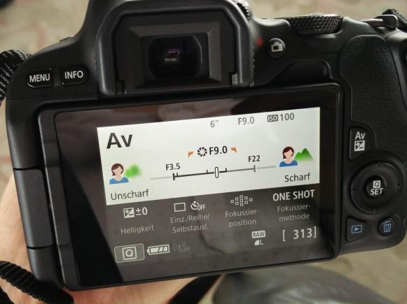 Erklärmenü der Canon EOS 200D