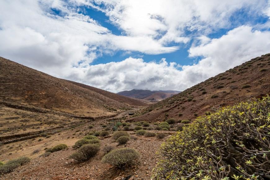 Landschaftsanblick während des Wanderns