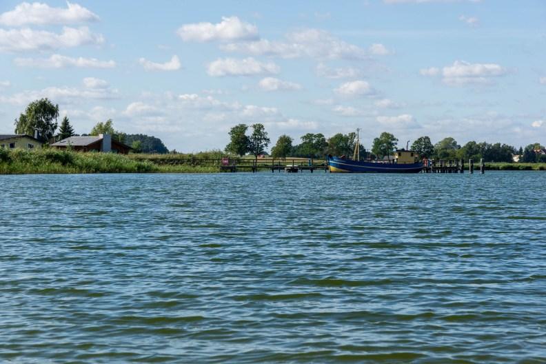 Usedom - Fischpalast Neppermin - Aussicht auf das Achterwasser