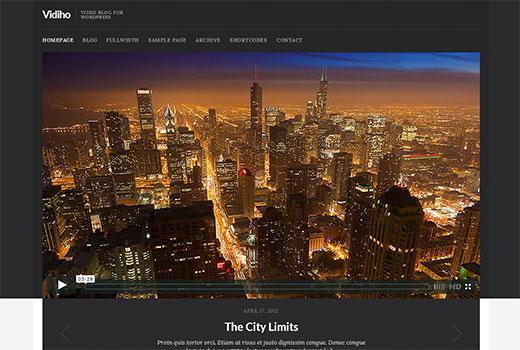 Vidiho - WordPress video theme