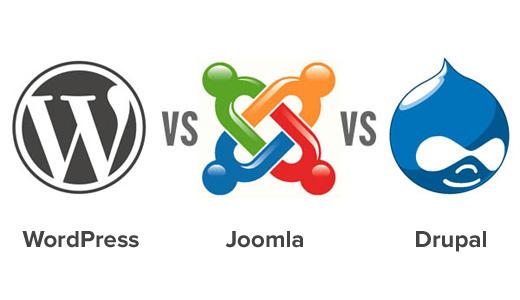WordPress vs Joomla vs Drupal