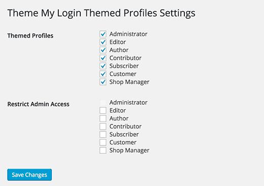 Izinkan pengguna untuk mengedit profil mereka di frontend