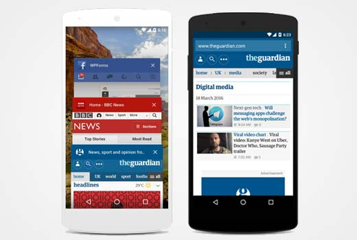 Color address bars in mobile browser on Android