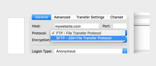 SFTP instead of FTP