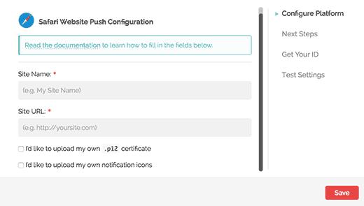 Safari web push bildirim ayarları