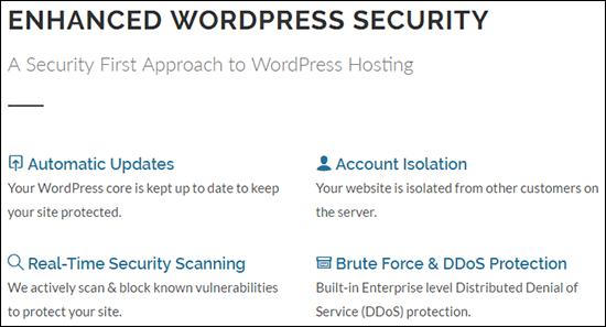 GreenGeeks secure WordPress hosting