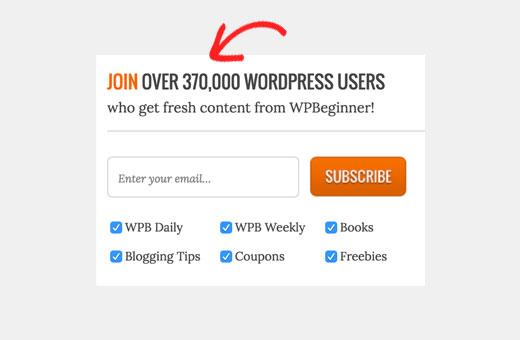 WPBeginner social proof