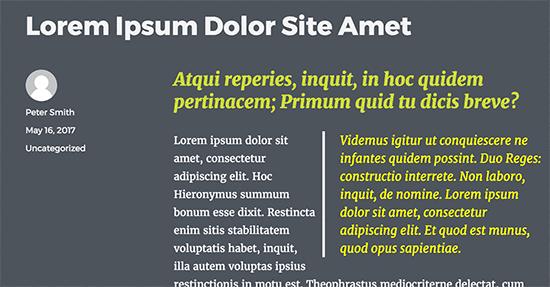 Custom fields displayed on a website