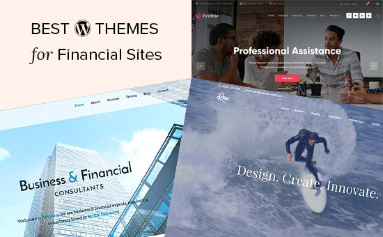 Best WordPress themes for financial sites