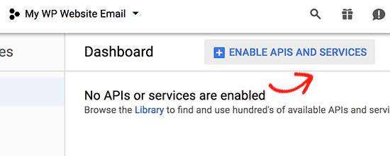Enable APIs