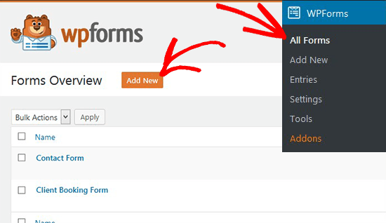 Add New Form