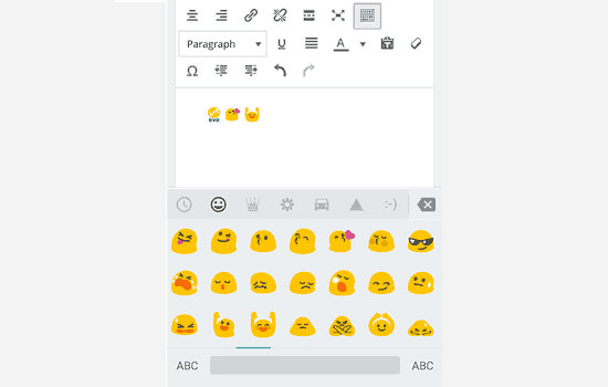 Emoji support was added to WordPress in 4.2