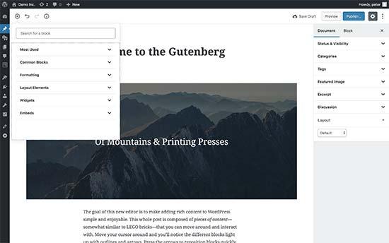 Gutenberg preview