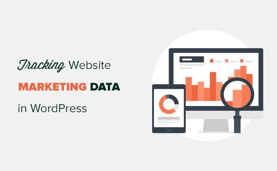 Tracking marketing data in WordPress