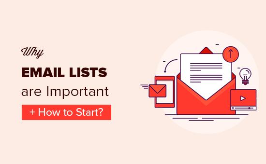 Tại sao xây dựng một danh sách email rất quan trọng