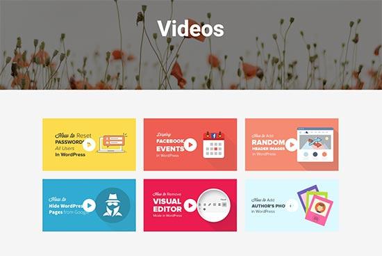 Видеогалерея в WordPress